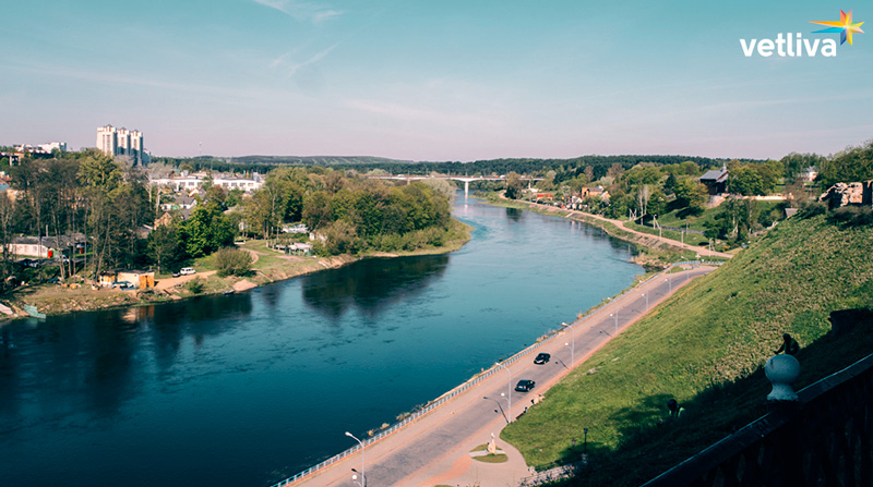 A beatiful view of Grodno