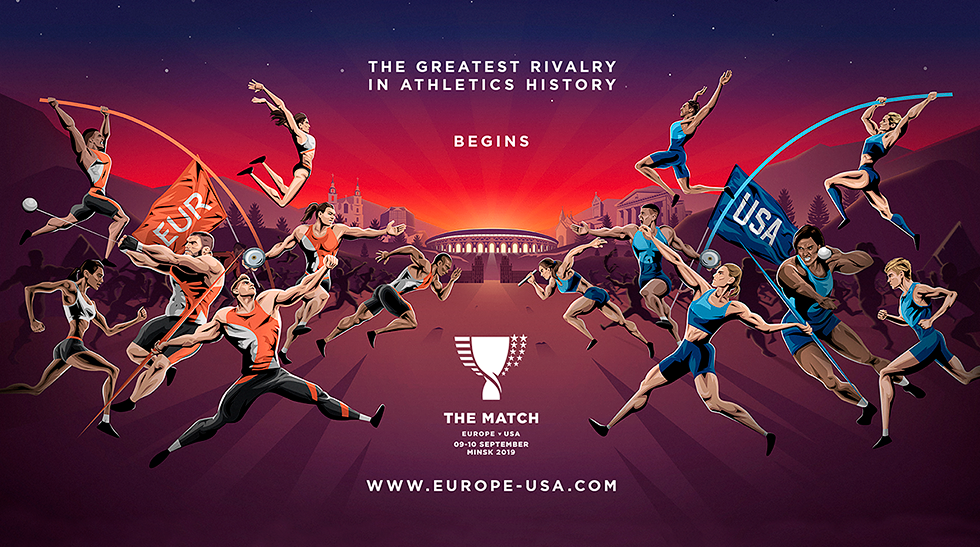 "Athletics match ""Europe-USA"" in Minsk"