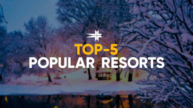 Top 5 of the most popular resorts in Belarus