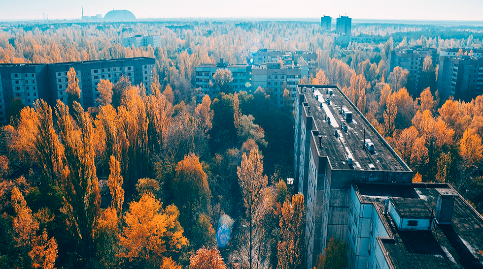 View of the plant in Pripyat
