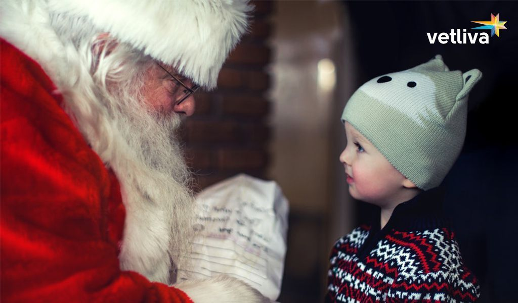 Santa Claus and child