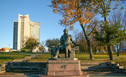 The Monument to Pushkin in Minsk