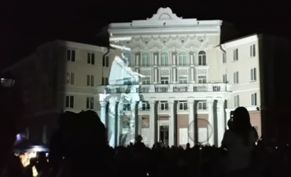Light show in Polotsk. History of the city in 5 minutes. Video