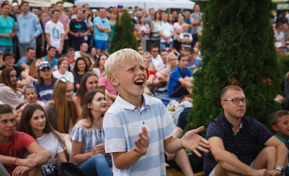 The main fan zone in Minsk is visited daily by more than 30 thousand tourists
